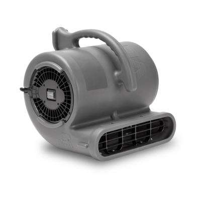 1/2 HP Air Mover for Janitorial Water Damage Restoration Stackable Carpet Dryer Floor Blower Fan in Grey