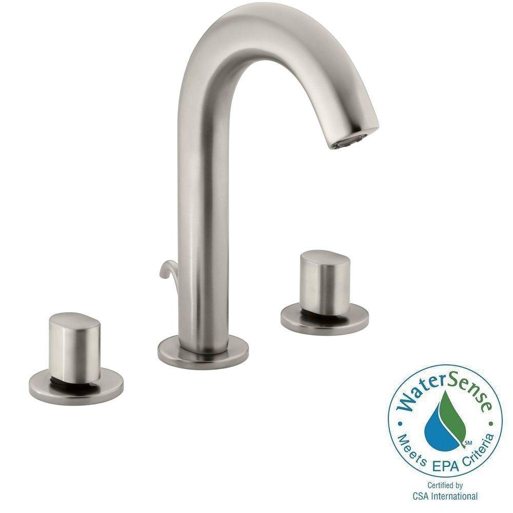 kohler loure 8 in widespread 2 handle water saving bathroom