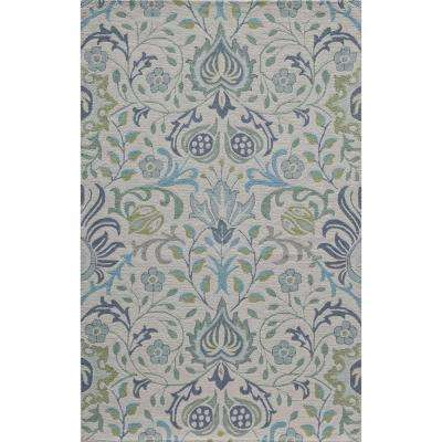 Newport Blue 9 ft. x 12 ft. Indoor Area Rug