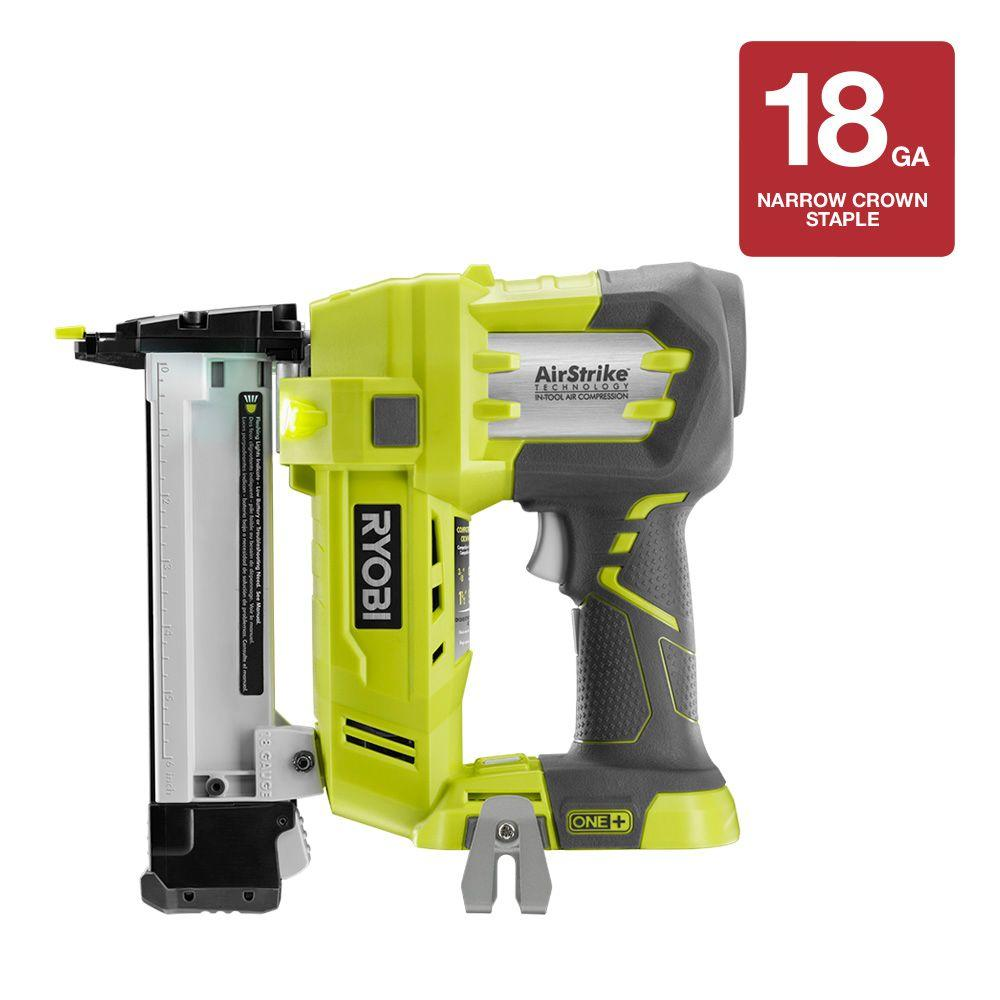 18-Volt ONE+ AirStrike 18-Gauge Cordless Narrow Crown Stapler (Tool-Only)