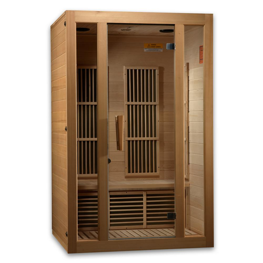 LifeSauna 2-Person Infrared Sauna with 6 Carbon Tech Heaters and Sound