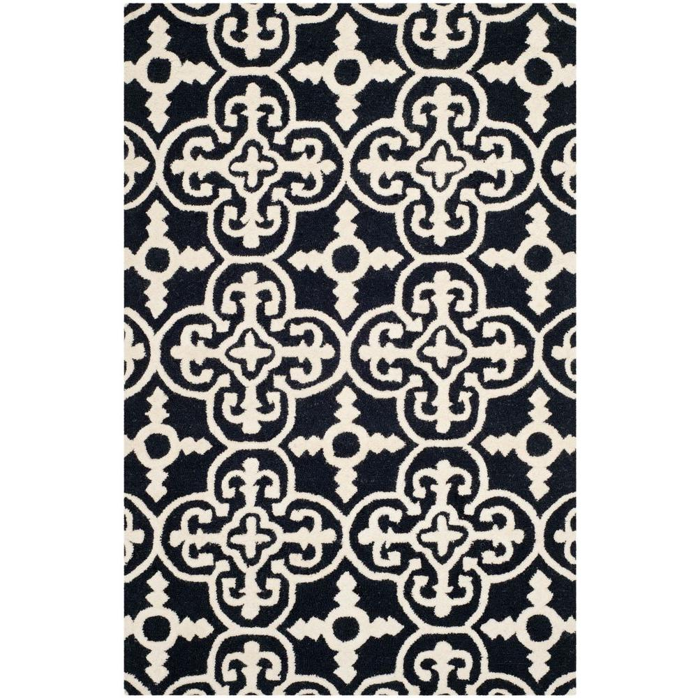 Cambridge Black/Ivory 4 ft. x 6 ft. Area Rug