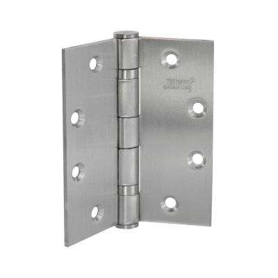 4-1/2 in. x 4-1/2 in. Stainless Steel Full Mortise Hinge with Ball Bearings