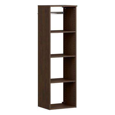 Style+ 14.59 in. D x 16.97 in. W x 56.48 in. H Chocolate Wood Closet System Hanging Tower