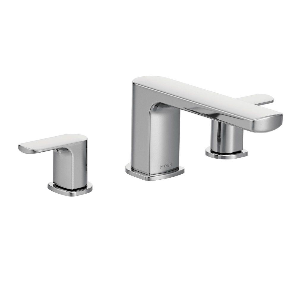 deck mount tub faucet with diverter. MOEN Rizon 2 Handle Deck Mount Roman Tub Faucet Trim Kit in Chrome  Valve Not Included T935 The Home Depot