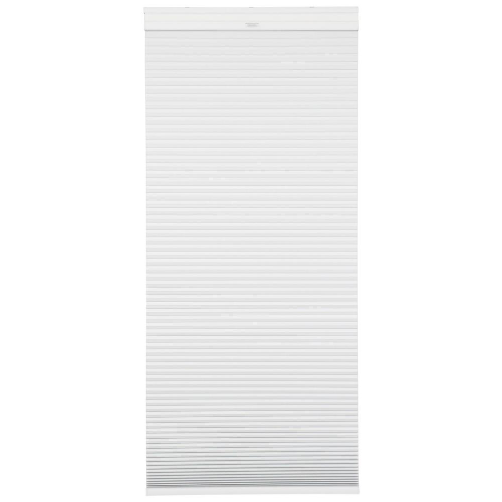Home Decorators Collection Snow Drift/Shadow White Cordless Day and Night Cellular Shade- 30 in. W x 72 in. L (Actual 29.625 in. W x 72 in. L)
