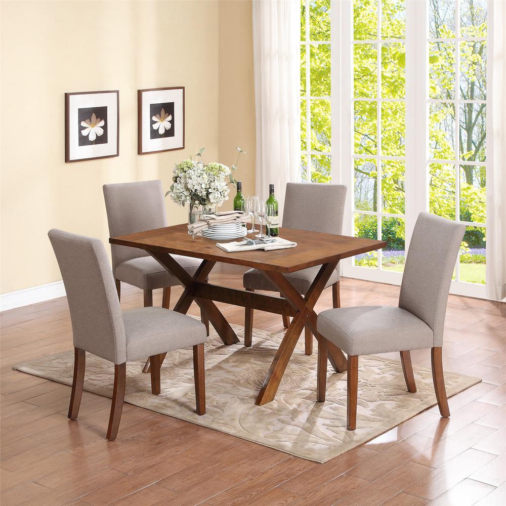 Dorel Living Trestle Dark Pine Dining Table FA4032T - The ...