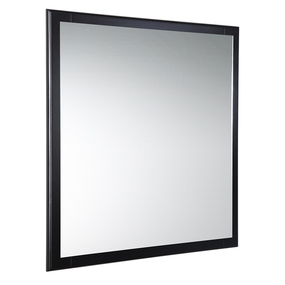 Oxford 32 in. W x 32 in. H Framed Wall Mirror in Espresso