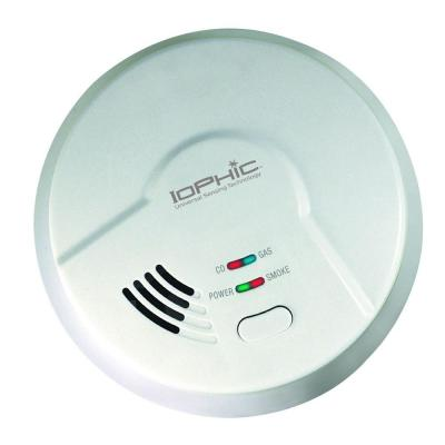 Hardwired, 4-In-1 Smoke, Fire, Carbon Monoxide & Natural Gas Detector, Battery Backup, Microprocessor Intelligence, 2PK