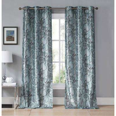 Beverly Kensie Teal Grommet Panel Pair - 38 in. W x 96 in. L in (2-Piece)