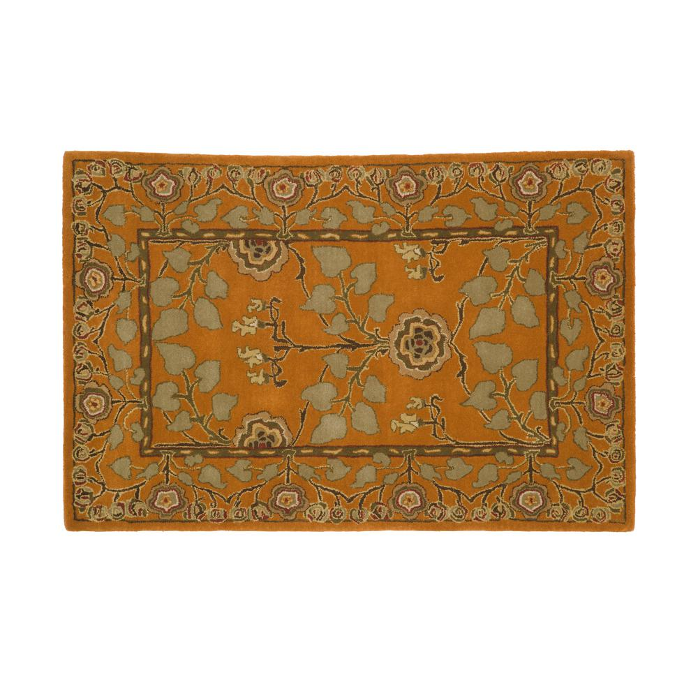 Home decorators collection patrician pumpkin 4 ft x 6 ft for Home decorators rugs