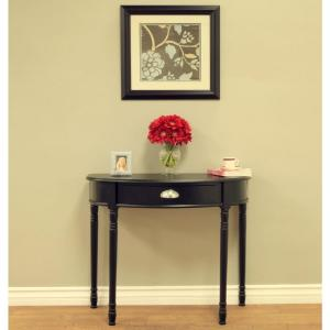 MegaHome Black Storage Console Table-MH152 - The Home Depot