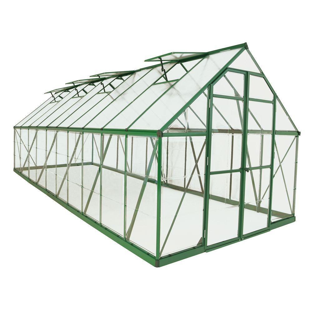 Palram Balance 8 ft. x 20 ft. Green Polycarbonate Greenhouse