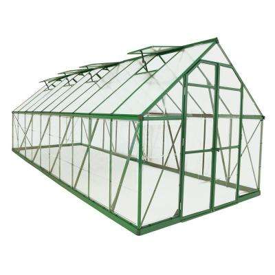 Balance 8 ft. x 20 ft. Green Polycarbonate Greenhouse