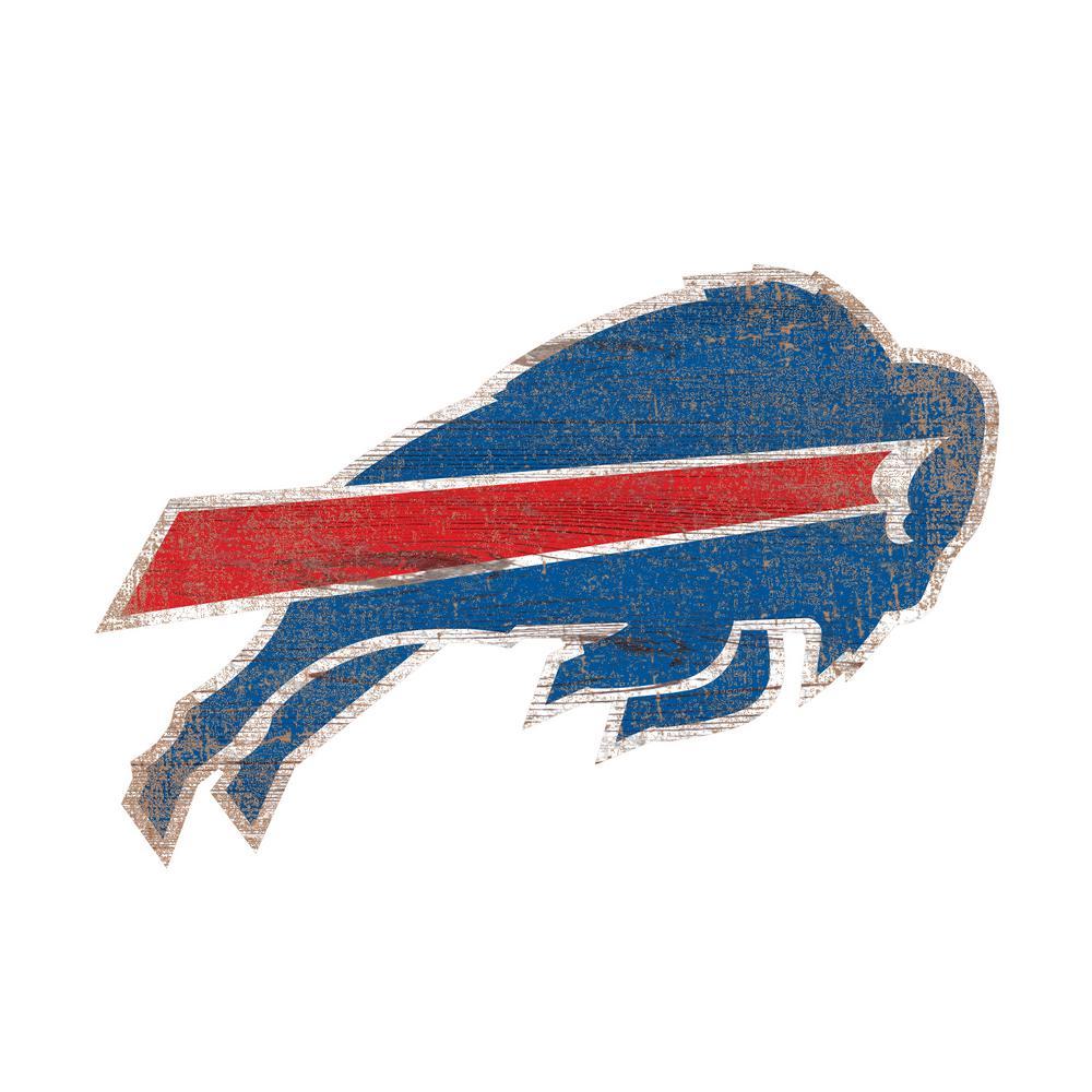 Nfl Indoor Buffalo Bills Distressed Logo Cutout Wood Sign