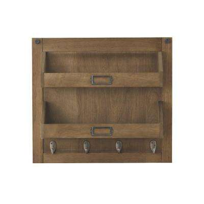 Soren 18 in. H x 20 in. W Wall Shelf Panel in Rustic Pine