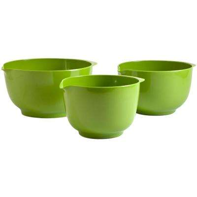 2, 3 and 4 l Melamine Mixing Bowl Set in Green (Set of 3)