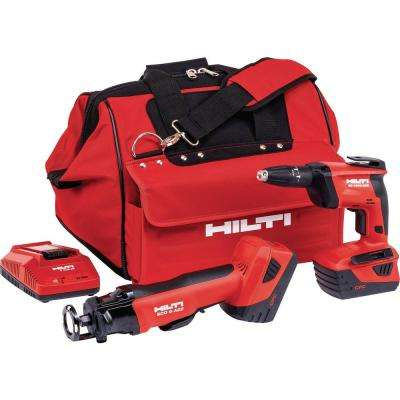 22-Volt Lithium-Ion Cordless Cut-Out Tool/Drywall Screw Gun Combo Kit (2-Tool)