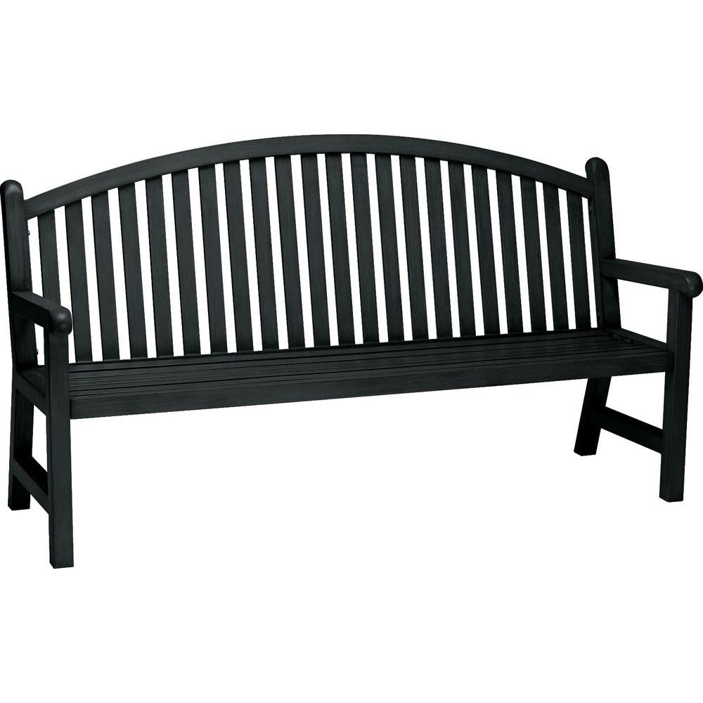 Tradewinds Spring Arbor 6 ft. Contract Arch Back Textured Black Bench Slat
