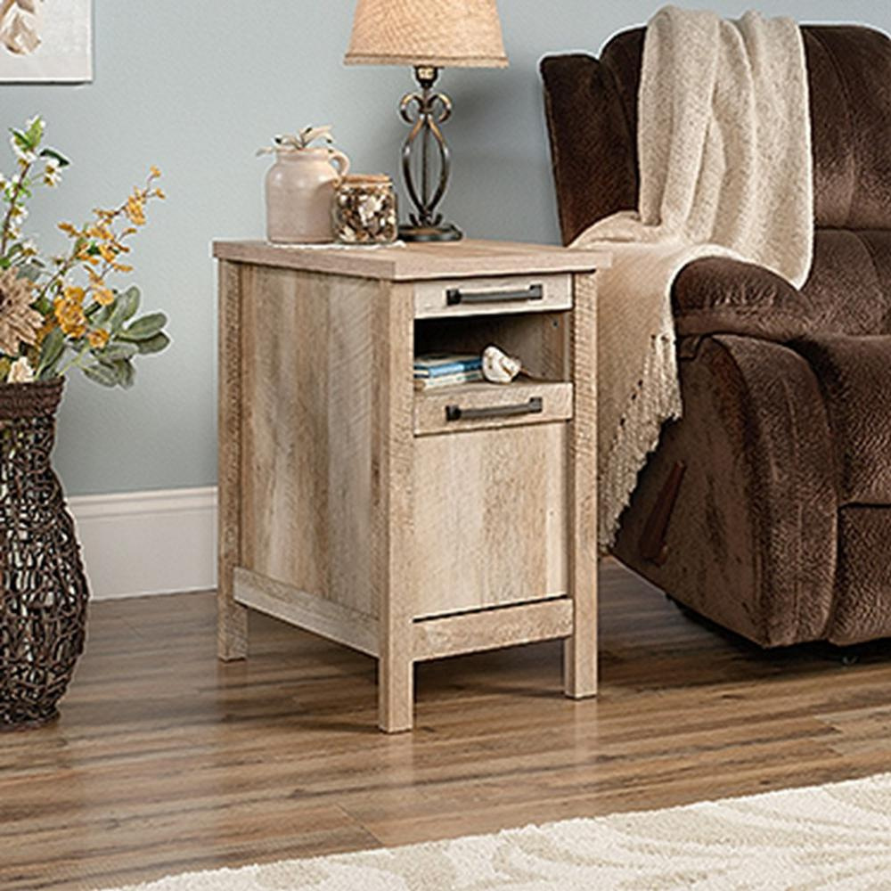 Oak End Tables With Storage ~ Sauder cannery bridge lintel oak storage side table