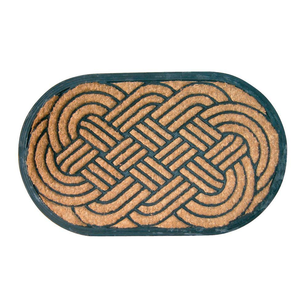 Entryways Lovers Knot 18 in. x 30 in. Recycled Rubber and Coir Door Mat