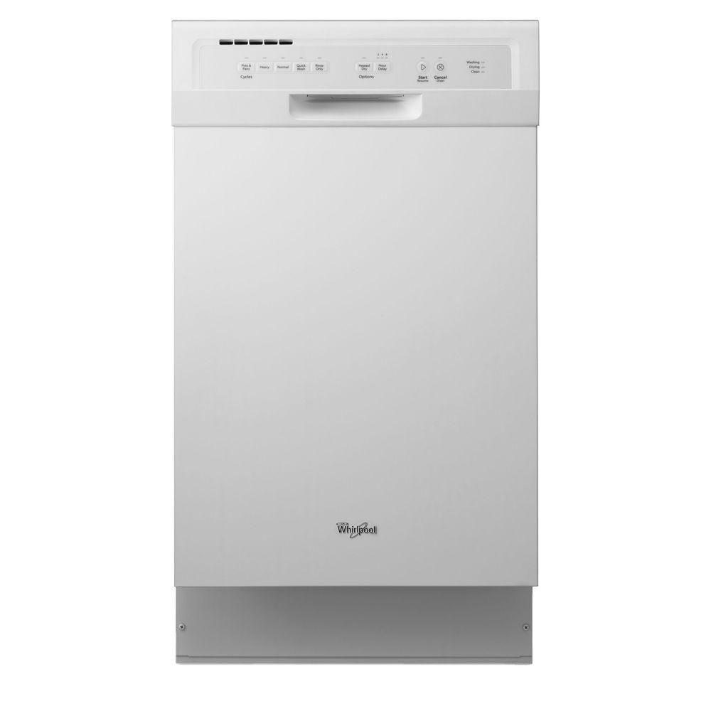 front control dishwasher in white with stainless steel the home depot