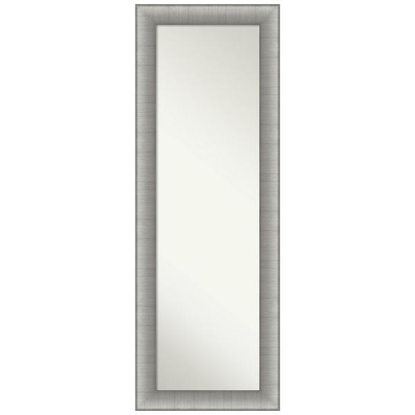 Large Rectangle Pewter Silver Metallic Modern Mirror (52.75 in. H x 18.75 in. W)