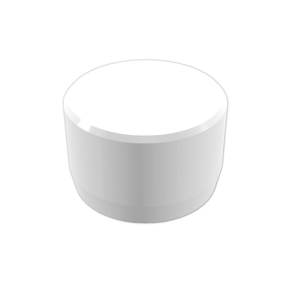 Formufit 3/4 in. Furniture Grade PVC External Flat End Cap in White (10-Pack)