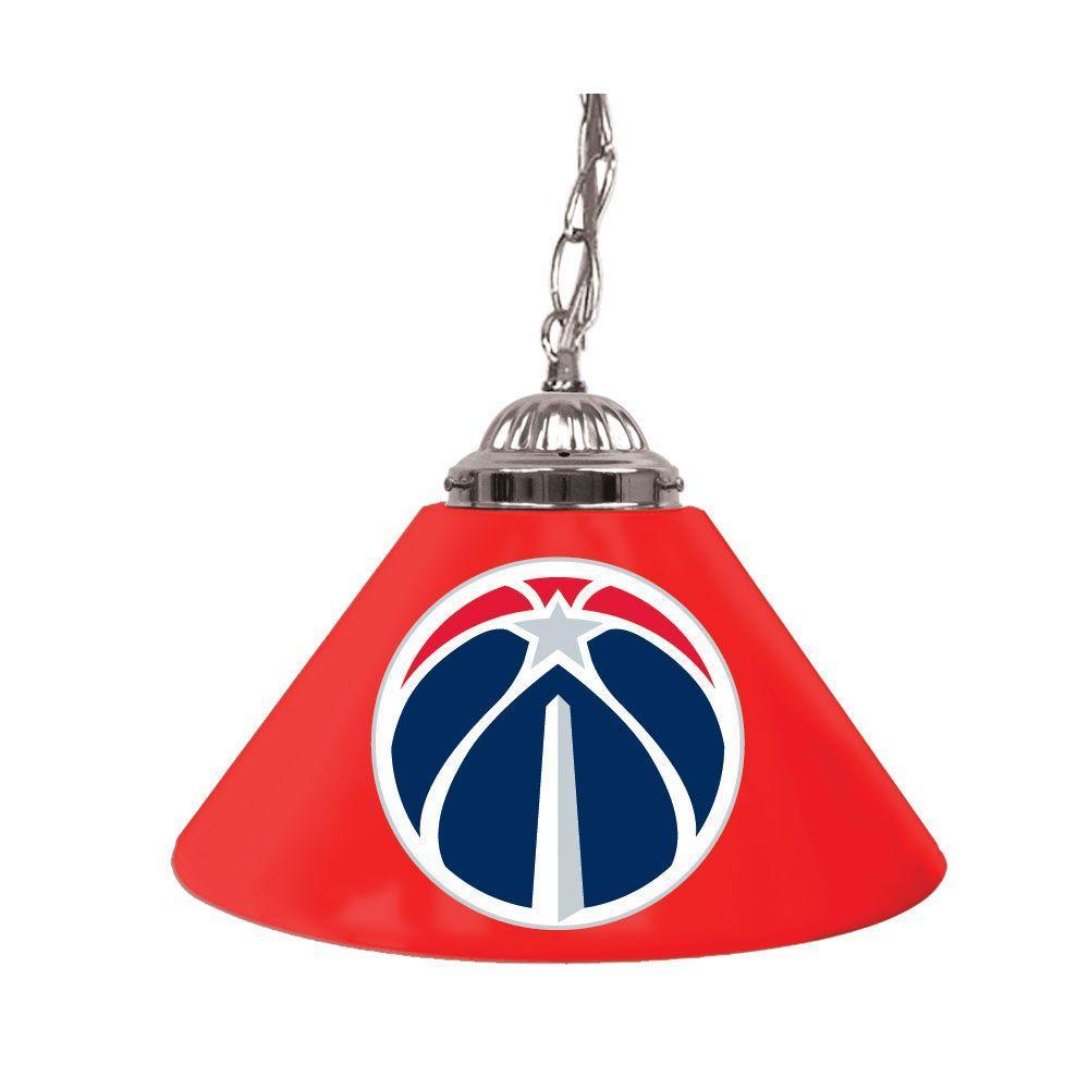 Trademark Washington Wizards NBA 14 in. Single Shade Stainless Steel Hanging Lamp
