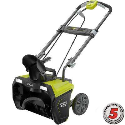 20 in. 40-Volt Brushless Cordless Electric Snow Blower - 4.0 Ah Battery and Charger Included