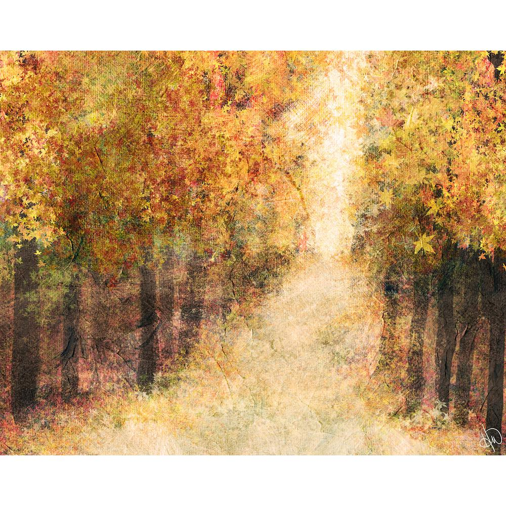 Creative Gallery 16 in. x 20 in. Yellow Fall Forest Acrylic Wall Art ...