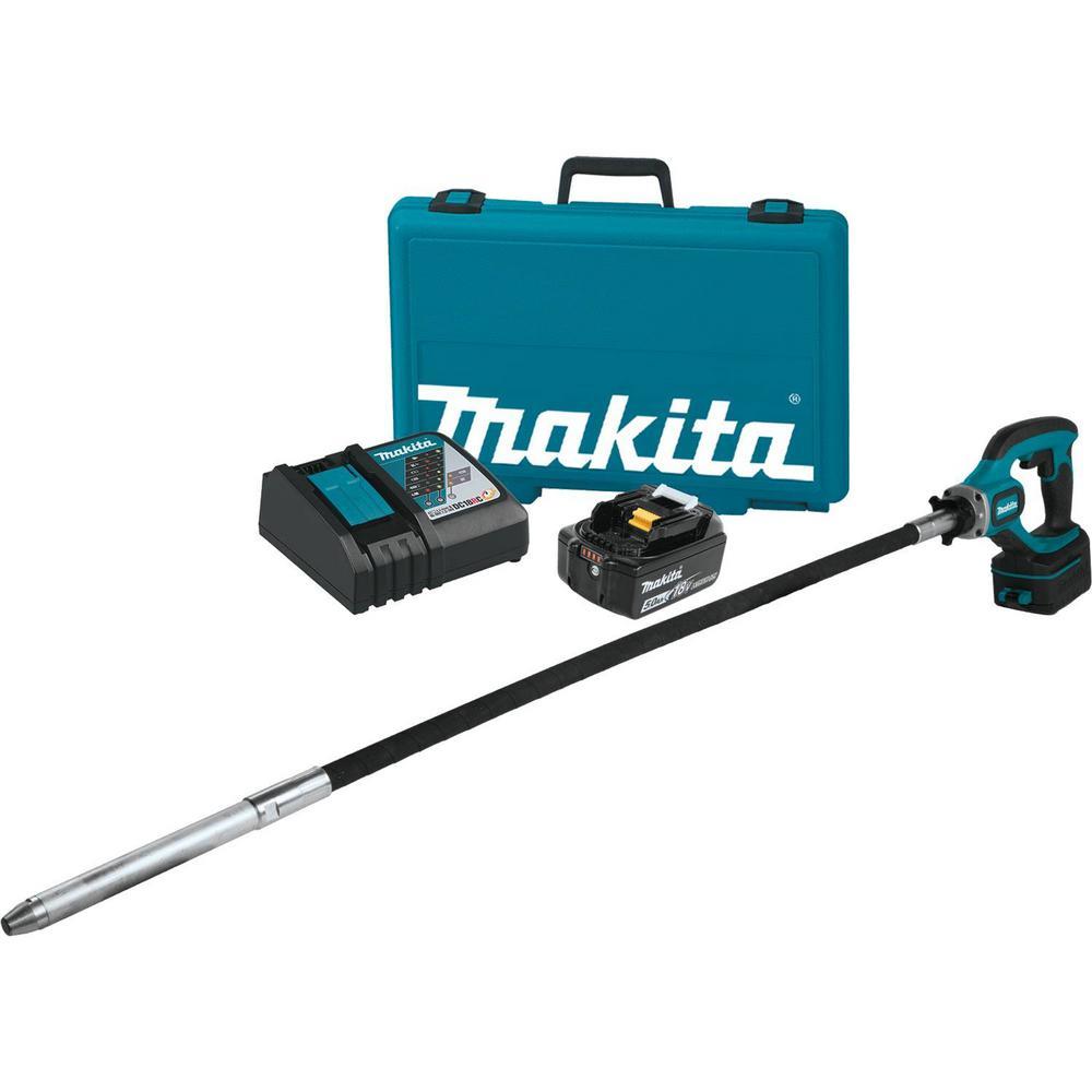 Makita 18-Voltt 5.0Ah LXT Lithium-Ion Cordless 4 ft. Concrete Vibrator Kit by Makita