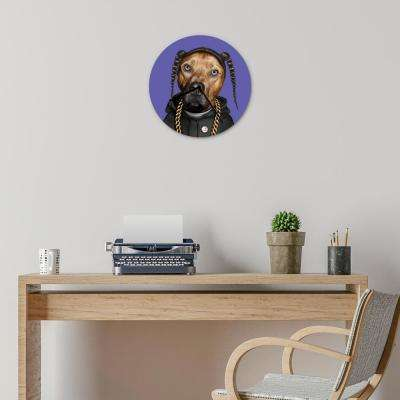"16 in. Pets Rock ""Rap"" Glass Wall Clock"