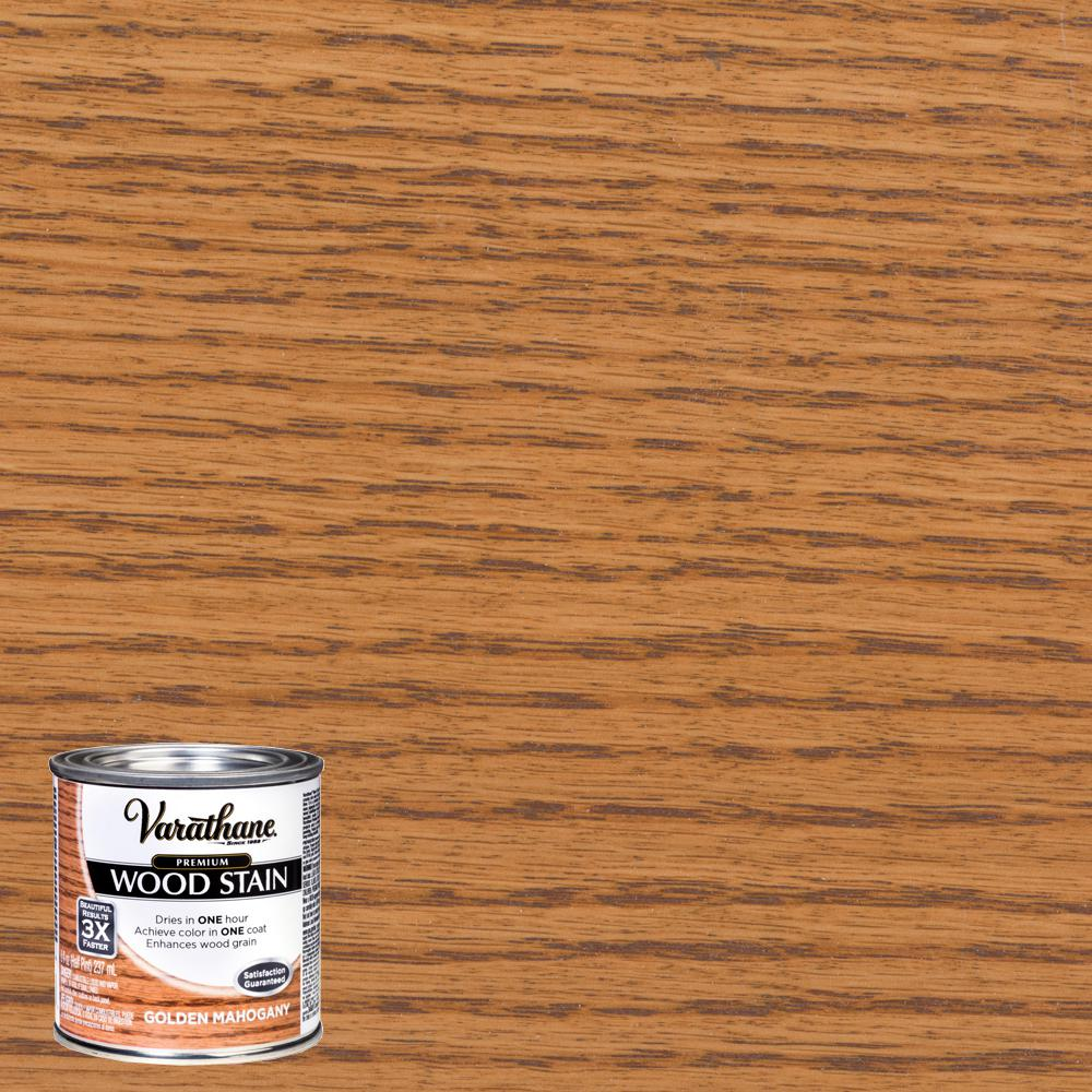 Varathane 8 oz. Golden Mahogany Premium Fast Dry Interior Wood Stain