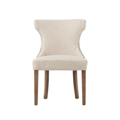 Scarlett Natural Textured Polyester Dining Chair (Set of 2)