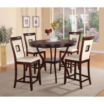 Oswell 25 in. Cherry Cushioned Bar Stool (Set of 2)