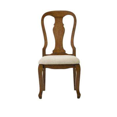 Fritz Autumn Walnut Dining Chairs with Cushion (Set of 2)