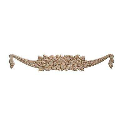 13800PK 7/32 in. x 21-1/4 in. x 3-3/8 in. Birch Garland Onlay Ornament Moulding