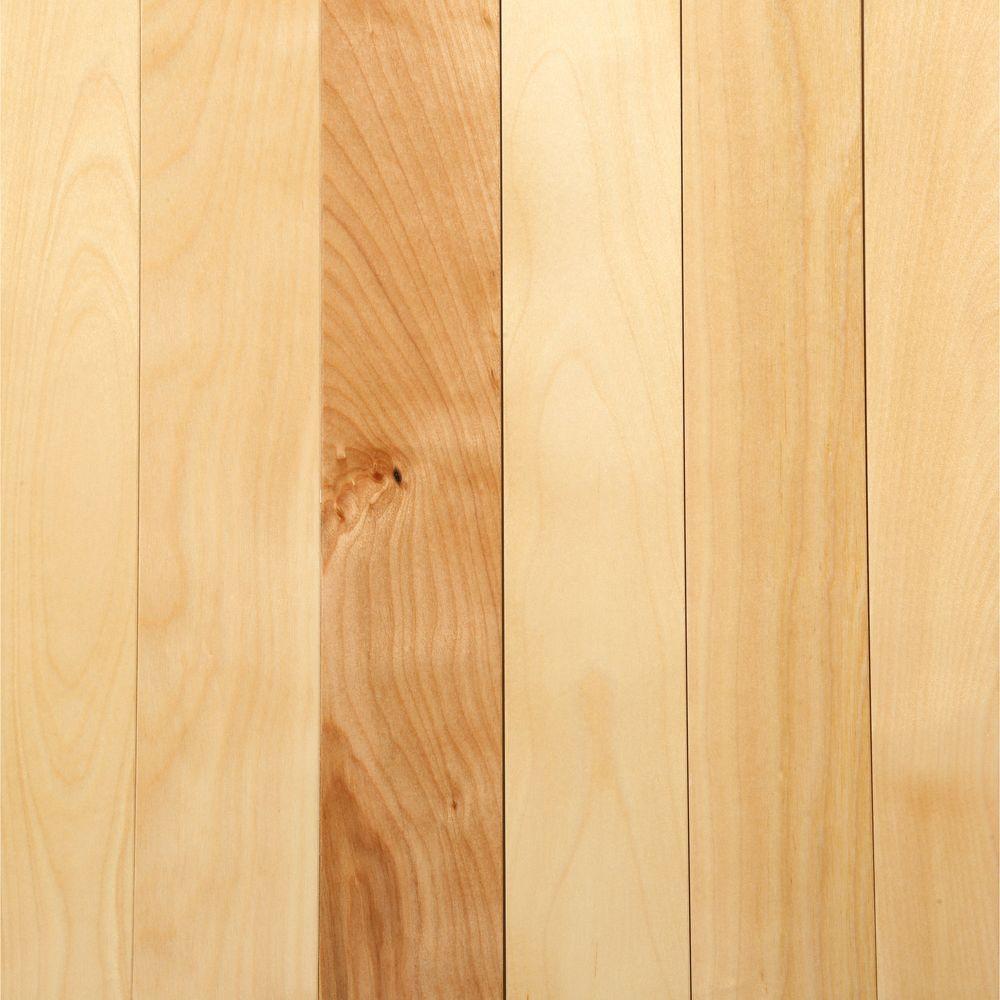 MONO SERRA Take Home Sample - Canadian Northern Birch Natural Solid Hardwood Flooring - 2-1/4 in. x 4 in.