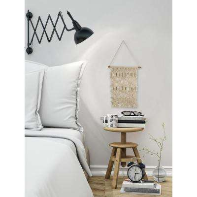 "Beige ""Geometric Macrame"" by Marmont Hill Wall Tapestry"