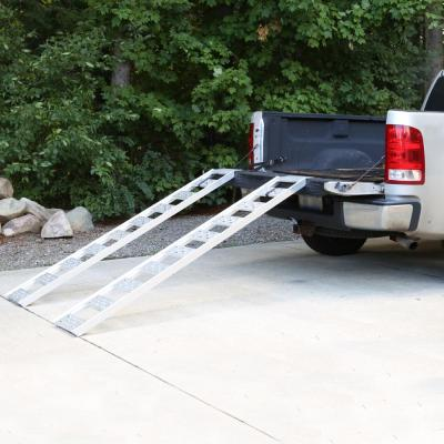 12 in. W x 78 in. L 1250 lb. Capacity Aluminum Straight Fixed Ramp with Treads (Pack of 2)