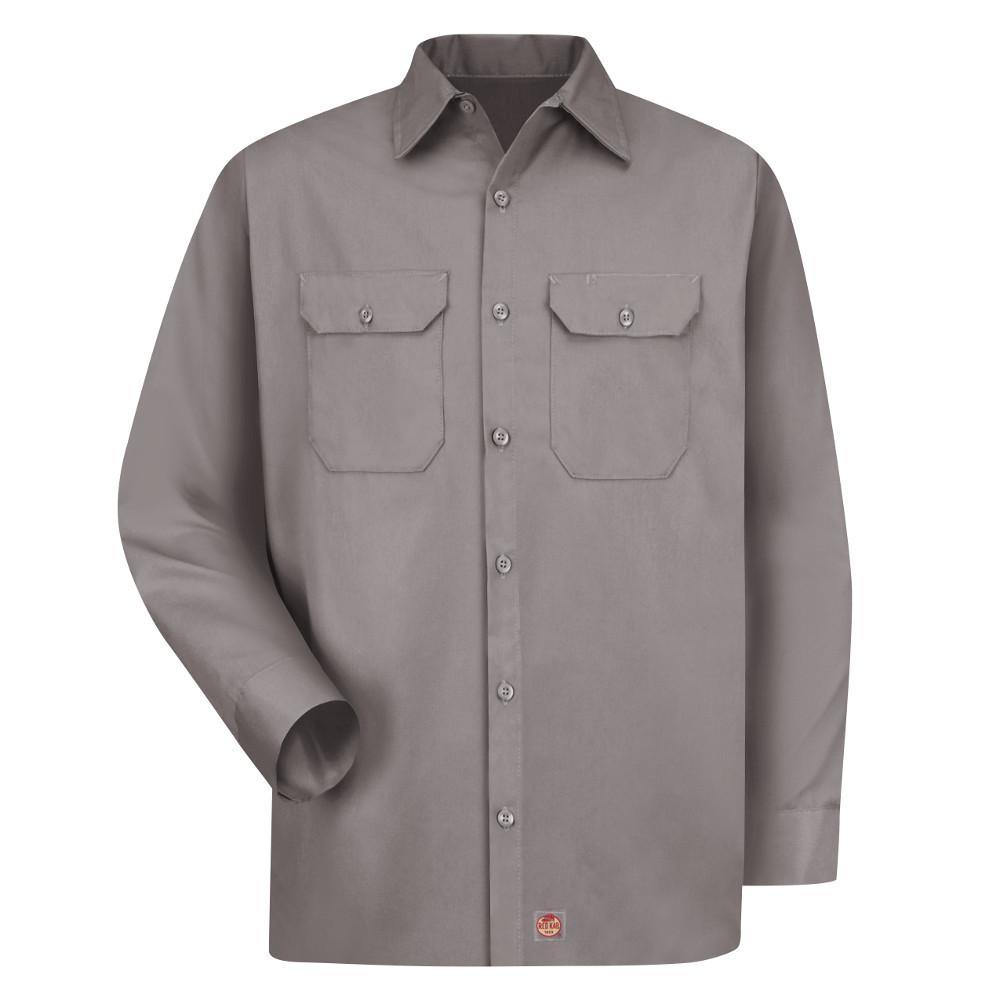 a200c1ffa Red Kap Men's Size 4XL Silver Utility Uniform Shirt-ST52SV RG 4XL ...