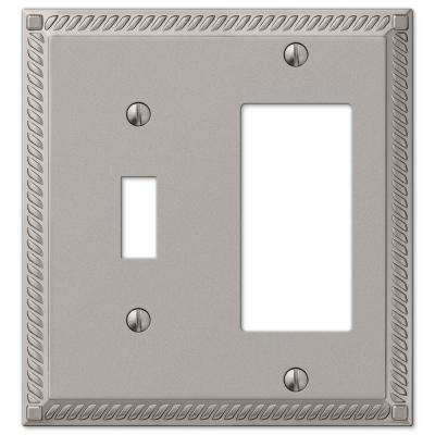 Georgian 1 Toggle 1 Decora Wall Plate - Nickel