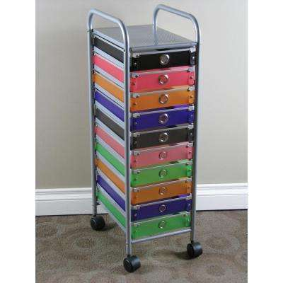Black, Pink, Orange, Purple, Green and Silver Cabinet
