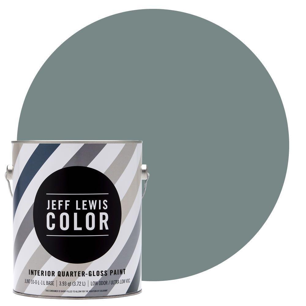 Jeff Lewis Color 1-gal. #JLC311 Salt Water Quarter-Gloss Ultra-Low VOC Interior Paint