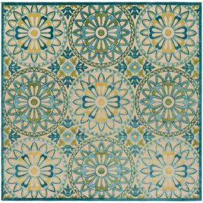 Square - Square 7\' and Larger - Blue - Outdoor Rugs - Rugs - The ...