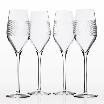 Bourbon Street 9.25 oz. Clear Champagne Flute (Set of 4)