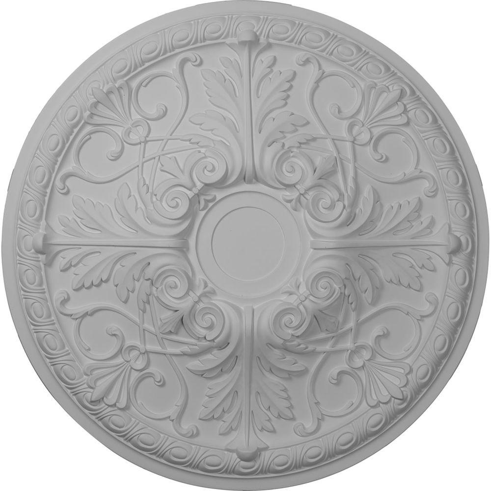 Ekena Millwork 26 in. O.D. x 3-7/8 in. I.D. Florence Ceiling Medallion
