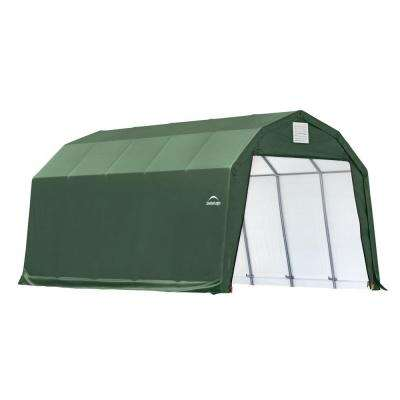 12 ft. x 20 ft. x 11 ft. Green Steel and Polyethylene Garage without Floor