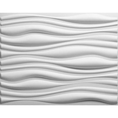 Threedwall 32 4 In X 21 6 In X 1 In Off White Plant Fiber Glue On Wainscot Wall Panel 6 Pack Ekb 02 102 The Home Depot